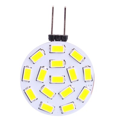 G4 2W 15 x SMD - 5730 570LM White LED Corn Light ( DC 12 - 24V )