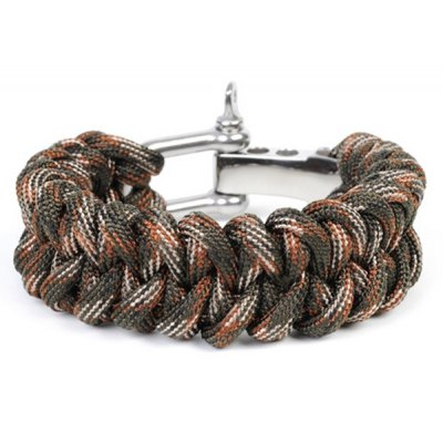 Outdoor Self-rescue Survival Bracelet Handmade Weave Parachute Cord