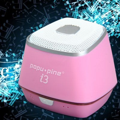 PopuPine i3 Bluetooth Speaker with Speakerphone / AUX Audio Input / Rechargeable Battery for iPhone 6S / 6S Plus / 6 Plus / 6 Bluetooth-enabled Devices