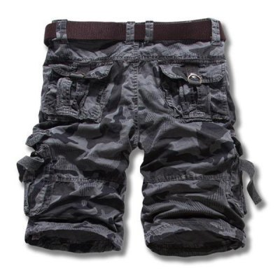 Гаджет   Camouflage Style Straight Leg Loose Fit Multi-Pocket Splicing Design Zipper Fly Men
