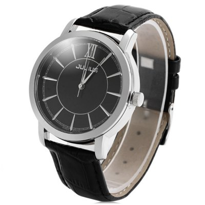 Julius 808M Contracted Geniuine Leather Band Male Quartz WatchMens Watches<br>Julius 808M Contracted Geniuine Leather Band Male Quartz Watch<br><br>Brand: Julius<br>Watches categories: Male table<br>Watch style: Business<br>Available color: Black, White, Gold, Rose Gold<br>Movement type: Quartz watch<br>Shape of the dial: Round<br>Display type: Analog<br>Case material: Stainless steel<br>Band material: Genuine leather<br>Clasp type: Pin buckle<br>The dial thickness: 0.8 cm / 0.31 inches<br>The dial diameter: 3.9 cm / 1.53 inches<br>The band width: 1.8 cm / 0.71 inches<br>Product weight: 0.041 kg<br>Package weight: 0.091 kg<br>Product size (L x W x H): 24.4 x 3.9 x 0.8 cm / 9.59 x 1.53 x 0.31 inches<br>Package size (L x W x H): 25.4 x 4.9 x 1.8 cm / 9.98 x 1.93 x 0.71 inches<br>Package Contents: 1 x Julius Watch