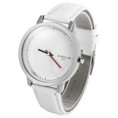 Rosivga 252 Contracted Dial Male Quartz Watch with Leather Strap