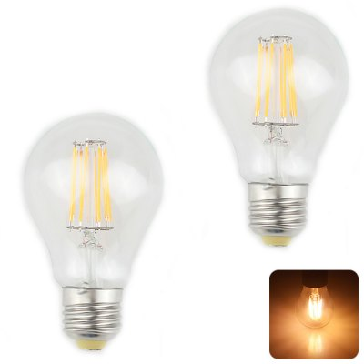 Zweihnder E27 8W 750LM 2700 - 3000K Filament LED Light Bulb - 2 Pcs AC 85 - 265V