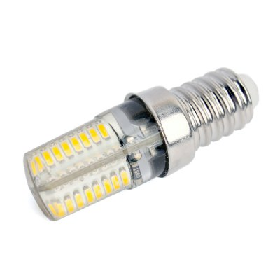 E14 3W 3000K 170LM 64 x SMD - 3014 Crystal LED Light Bulb ( AC 90 - 240V )LED Light Bulbs<br>E14 3W 3000K 170LM 64 x SMD - 3014 Crystal LED Light Bulb ( AC 90 - 240V )<br><br>Base Type: E14<br>Type: Corn Bulbs<br>Output Power: 3W<br>Emitter Type: SMD - 3014<br>Total Emitters: 64<br>Actual Lumen(s): 170LM<br>Wavelength/Color Temperature: 3000K<br>Voltage (V): AC 90-240V<br>Angle: 360<br>Features: Low Power Consumption, Long Life Expectancy<br>Function: Home Lighting, Studio and Exhibition Lighting<br>Available Light Color: Warm White<br>Sheathing Material: Silicone, Aluminum<br>Product Weight: 0.010 kg<br>Package Weight: 0.085 kg<br>Product Size (L x W x H): 5.2 x 1.5 x 1.5 cm / 2.04 x 0.59 x 0.59 inches<br>Package Size (L x W x H): 7 x 2.5 x 2.5 cm / 2.75 x 0.98 x 0.98 inches<br>Package Contents: 1 x 3000K SMD - 3014 LED Light