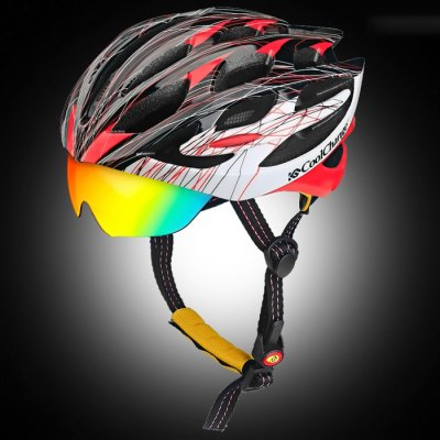 CoolChange Cycling Helmet + Goggles
