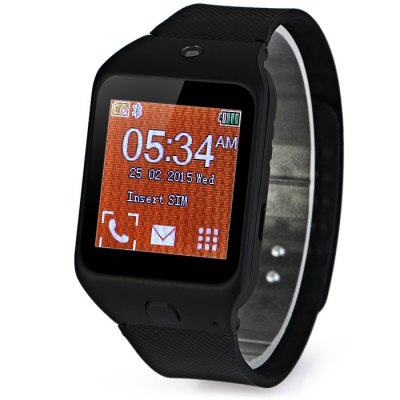 Ken Xin Da W3 Smart Watch PhoneSmart Watch Phone<br>Ken Xin Da W3 Smart Watch Phone<br><br>Type: Watch Phone<br>External memory: TF card up to 16GB (not included)<br>Network type: GSM<br>Frequency: GSM900/1800MHz<br>Bluetooth: Yes<br>Screen size: 1.44 inc<br>Camera type: Single camera<br>Front camera: 0.08MP<br>SIM Card Slot: Single SIM<br>TF Card Slot: Yes<br>Micro USB Slot: Yes<br>Picture format: GIF, BMP, PNG, JPEG<br>Music format: WAV, AAC, MP3<br>Video format: 3GP<br>Languages: English, French, Arabic<br>Additional Features: MP3, Bluetooth<br>Cell Phone: 1<br>Battery: Built-in Battery<br>Charger: 1<br>USB Cable: 1<br>Bluetooth Headset: 1<br>Product size: 4.0 x 3.5 x 1.1 cm / 1.57 x 1.38 x 0.43 inches<br>Package size: 11.5 x 10.5 x 9.0 cm / 4.52 x 4.13 x 3.54 inches<br>Product weight: 0.039 kg<br>Package weight: 0.270 kg