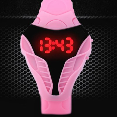 Snakehead Design Sports LED Watch Date Function Rubber BandSnakehead Design Sports LED Watch Date Function Rubber Band<br><br>People: Unisex table<br>Watch style: LED, Special Dial Shape<br>Available color: Pink, Red, Blue, Gray, Black, White<br>Movement type: Digital watch<br>Display type: Digital<br>Case material: PC<br>Band material: Rubber<br>Clasp type: Pin buckle<br>Special features: Date, EL Back-light<br>The dial thickness: 1.1 cm / 0.43 inches<br>The dial diameter: 4.2 cm / 1.65 inches<br>The band width: 1.8 cm / 0.71 inches<br>Product weight: 0.037 kg<br>Package weight: 0.087 kg<br>Product size (L x W x H) : 25 x 4.2 x 1.1 cm / 9.83 x 1.65 x 0.43 inches<br>Package size (L x W x H): 26 x 5.2 x 2.1 cm / 10.22 x 2.04 x 0.83 inches<br>Package contents: 1 x Snakehead Style LED Watch
