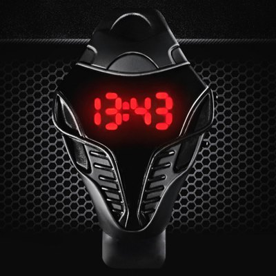 Snakehead Design Sports LED Watch Date Function Rubber BandLED Watches<br>Snakehead Design Sports LED Watch Date Function Rubber Band<br><br>People: Unisex table<br>Watch style: LED, Special Dial Shape<br>Available color: Pink, Red, Blue, Gray, Black, White<br>Movement type: Digital watch<br>Display type: Digital<br>Case material: PC<br>Band material: Rubber<br>Clasp type: Pin buckle<br>Special features: Date, EL Back-light<br>The dial thickness: 1.1 cm / 0.43 inches<br>The dial diameter: 4.2 cm / 1.65 inches<br>The band width: 1.8 cm / 0.71 inches<br>Product weight: 0.037 kg<br>Package weight: 0.087 kg<br>Product size (L x W x H) : 25 x 4.2 x 1.1 cm / 9.83 x 1.65 x 0.43 inches<br>Package size (L x W x H): 26 x 5.2 x 2.1 cm / 10.22 x 2.04 x 0.83 inches<br>Package contents: 1 x Snakehead Style LED Watch