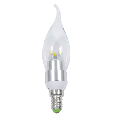 E14 3W 3000K 200LM 6 x SMD - 5630 Warm White LED Candle Pull Tail Bulb ( AC 220V )