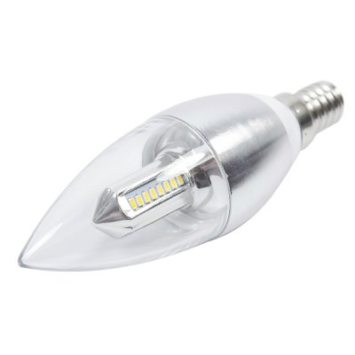 E14 4W 3000K 200LM 32 x SMD - 3014 LED Candle Bulb ( AC 85 - 265V )LED Light Bulbs<br>E14 4W 3000K 200LM 32 x SMD - 3014 LED Candle Bulb ( AC 85 - 265V )<br><br>Base Type: E14<br>Type: Candle Bulbs<br>Output Power: 4W<br>Emitter Type: SMD - 3014<br>Total Emitters: 32<br>Theoretical Lumen(s): 220LM<br>Actual Lumen(s): 200LM<br>Wavelength/Color Temperature: 3000K<br>Voltage (V): 85-265V<br>Angle: 360<br>Features: Energy Saving, Long Life Expectancy<br>Function: Studio and Exhibition Lighting, Home Lighting<br>Available Light Color: Warm White<br>Sheathing Material: Aluminum Alloy, Plastic<br>Product Weight: 0.056 kg<br>Package Weight: 0.130 kg<br>Product Size (L x W x H): 3.5 x 3.5 x 12 cm / 1.38 x 1.38 x 4.72 inches<br>Package Size (L x W x H): 5 x 5 x 15.5 cm / 1.97 x 1.97 x 6.09 inches<br>Package Contents: 1 x 3000K SMD - 3014 LED Light
