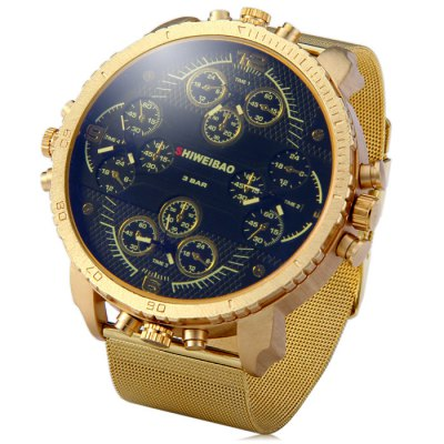 Shiweibao A1165 4-Movt Quartz Male Water Resistant Watch