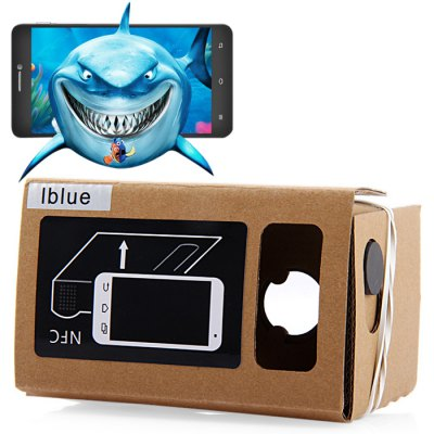 iBlue DIY Cardboard 3D VR Glasses with Magnetic Sensor Support NFC for 3.5 5.5 inches Smartphone