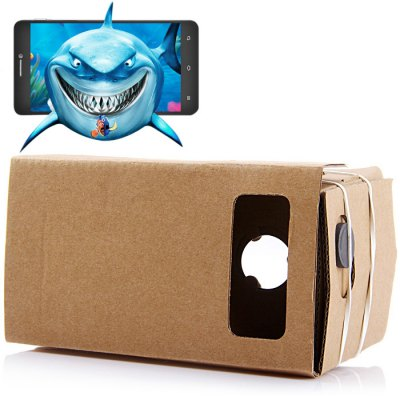 iBlue DIY Cardboard 3D VR Glasses Smart Phone 3D Private Theater with Magnetic Sensor for 4 - 6 inches Smartphone