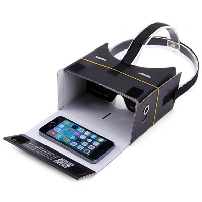 iBlue DIY Cardboard 3D VR Glasses Headset Smart Phone 3D Private Theater with Magnetic Sensor for 4 - 7 inches Smartphone