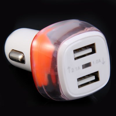 3.1A Car Charger with Dual USB Ports for Smart Phones Tablet PC / iPad / iPod