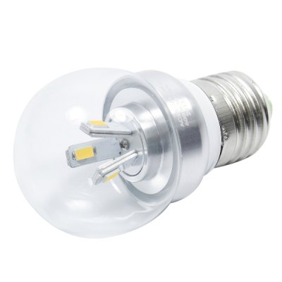 E27 4W 3000K 300LM 6 x SMD - 5630 Warm White LED Mini Ball Bulb ( AC 85 - 265V )LED Light Bulbs<br>E27 4W 3000K 300LM 6 x SMD - 5630 Warm White LED Mini Ball Bulb ( AC 85 - 265V )<br><br>Base Type: E27<br>Type: Ball Bulbs<br>Output Power: 4W<br>Emitter Type: SMD - 5630<br>Total Emitters: 6<br>Theoretical Lumen(s): 320LM<br>Actual Lumen(s): 300LM<br>Wavelength/Color Temperature: 3000K<br>Voltage (V): 85-265V<br>Angle: 360<br>Function: Studio and Exhibition Lighting, Home Lighting<br>Available Light Color: Warm White<br>Sheathing Material: Aluminum Alloy, Plastic<br>Product Weight: 0.037 kg<br>Package Weight: 0.110 kg<br>Product Size (L x W x H): 4.5 x 4.5 x 8.5 cm / 1.77 x 1.77 x 3.34 inches<br>Package Size (L x W x H): 7 x 7 x 11 cm / 2.75 x 2.75 x 4.32 inches<br>Package Contents: 1 x 3000K SMD - 5630 LED Light