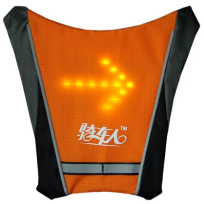 Bikeman YKGJ Wireless Control Light-up Warning Indicator Vest / Backpack SupplyBike Bags<br>Bikeman YKGJ Wireless Control Light-up Warning Indicator Vest / Backpack Supply<br><br>For: Unisex<br>Type: Other Accessories<br>Material: Nylon, Polyester<br>Suitable for : Road Bike, Motorbike, Bike, Mountain Bicycle, Electrombile<br>Working time: 24 hours<br>Color: Silver, Orange, Gray, Green<br>Condition: 100% New<br> Product weight : 0.350 kg<br>Package weight : 0.410 kg<br>Product size (L x W x H)   : 26.0 x 25.0 x 2.5 cm / 10.22 x 9.83 x 0.98 inches<br>Package size (L x W x H)  : 32.0 x 27.0 x 3.0 cm / 12.58 x 10.61 x 1.18 inches<br>Package Contents: 1 x Hanging Accessory, 1 x Remote Controller, 1 x Charger, 1 x USB Cable, 1 x English User Manual