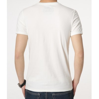 Фотография Stylish Round Neck Insect Pattern Slimming Short Sleeve Polyester T-Shirt For Men