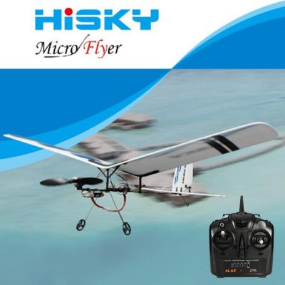 Hisky HFW400 Micro Flyer 2.4G 3CH Parkflyers Indoor RC Airplane RTF with RC Controller