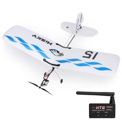 Гаджет   Hisky HFW400 2.4G 3CH Micro RC Parkflyers BNF with HT8 Radio Adapter RC Airplanes