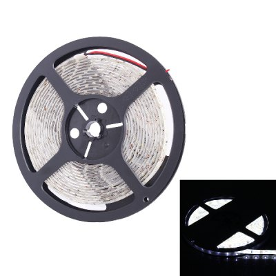 5 Meters x 60 SMD - 3528 LEDs 6000K 900LM IP65 Flexible White LED Light Strip ( 36W DC 12V )LED Strips<br>5 Meters x 60 SMD - 3528 LEDs 6000K 900LM IP65 Flexible White LED Light Strip ( 36W DC 12V )<br><br>Connector Type: Wired<br>Light Color: White<br>CCT/Wavelength: 6000K<br>Voltage (V): DC12<br>Output Power(W): 36W<br>Actual Lumen(s): 900LM<br>Features: Waterproof, Free RGB Driver, IP-65<br>Length (m): 5m<br>Number of LEDs: 300<br>Material: Silicone<br>Product weight: 0.148 kg<br>Package weight: 0.220 kg<br>Product size (L x W x H): 18 x 18 x 1.1 cm / 7.07 x 7.07 x 0.43 inches<br>Package size (L x W x H): 22.5 x 25 x 2.5 cm / 8.84 x 9.83 x 0.98 inches<br>Package Contents: 1 x LED Light Strip