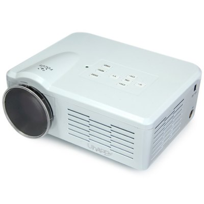 UhAPPy U-35 LCD Projector 800 Lumens 640 x 480 Pixels with Keystone Correction Support 1080P