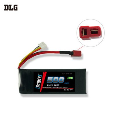 DLG 3S 10C 500mAh 11.1V 15C Instantaneous Rate Battery for Remote Control Car Aircraft etc. Supplies