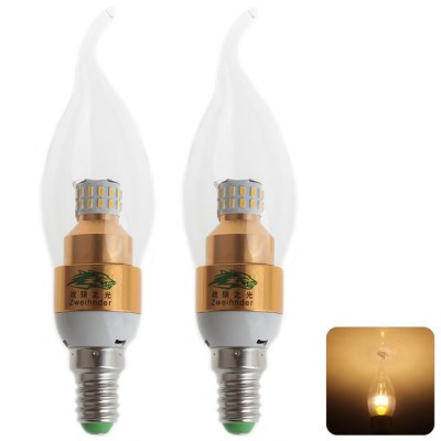 2 x Zweihnder E14 3W 30 SMD 3014 LED Candle Light 3000 - 3500K