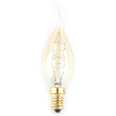 Гаджет   Pair of Zweihnder 40W E14 500LM Tailed Filament Candle Light Incandescent Lamp ( Warm White ) LED Light Bulbs