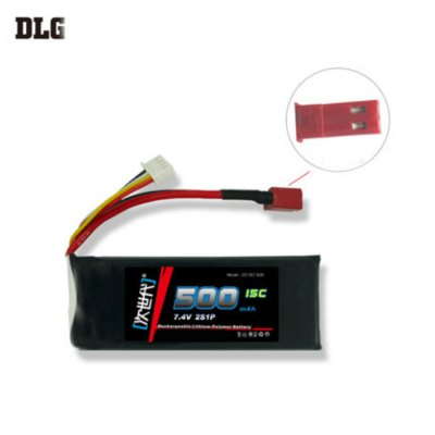DLG 2S 15C 500mAh 7.4V 25C Instantaneous Rate Battery for Remote Control Car Aircraft etc. Supplies