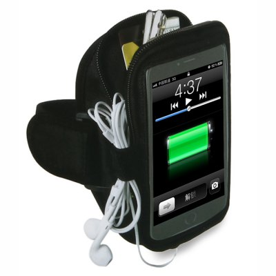 Multifunctional Durable Sports Armband Phone Bag Key Pouch with Headphones Hubs