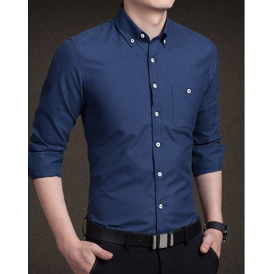 Trendy Shirt Collar One Pocket Solid Color Slimming Long Sleeve Cotton Blend Shirt For MenMens Shirts<br>Trendy Shirt Collar One Pocket Solid Color Slimming Long Sleeve Cotton Blend Shirt For Men<br><br>Shirts Type: Casual Shirts<br>Material: Polyester<br>Sleeve Length: Full<br>Collar: Turn-down Collar<br>Weight: 0.220KG<br>Package Contents: 1 x Shirt