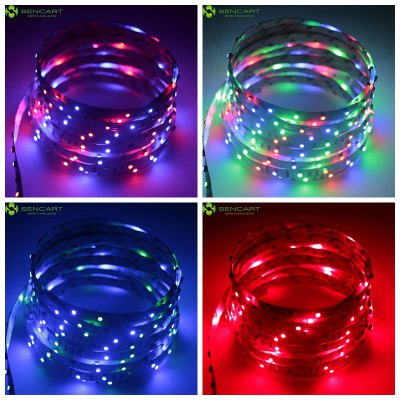 5 meters x 60 smd 2835 leds 1500lm cuttable adhesive rgb. Black Bedroom Furniture Sets. Home Design Ideas