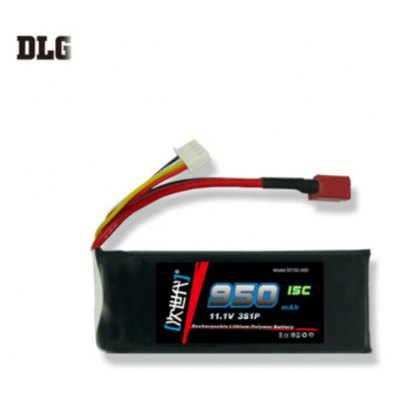 DLG 3S 15C 950mAh 11.1V 25C Instantaneous Rate JST Plug Battery for Remote Control Car Aircraft etc. Supplies