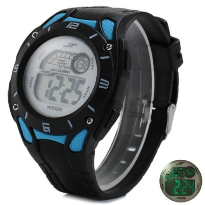 NT LED Sports Watch with Day Date Alarm Stopwatch Function Rubber Band