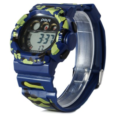 ФОТО Polit LED Camouflage Military Watch Water Resistance with Date Day Alarm Rubber Band