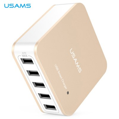 ФОТО USAMS US Plug Power Charger Adapter with 5 USB Ports 100  -  240V Input for iPhone 6 / 6 Plus Samsung etc.
