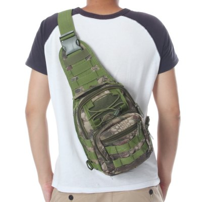 Гаджет   Durable Nylon Army Tactical Water Resistant Single Shoulder Bag - 5L Capacity Sling Bag