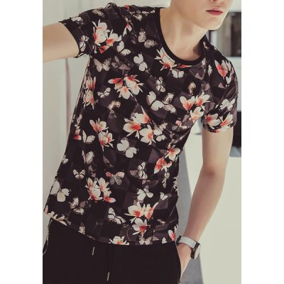 Fashion Style Slimming Round Neck Flower Pattern Short Sleeves Mens 3D Printed T-ShirtMens Short Sleeve Tees<br>Fashion Style Slimming Round Neck Flower Pattern Short Sleeves Mens 3D Printed T-Shirt<br><br>Material: Polyester, Cotton<br>Sleeve Length: Short<br>Collar: Round Neck<br>Style: Fashion<br>Weight: 0.220KG<br>Package Contents: 1 x T-Shirt<br>Pattern Type: Floral