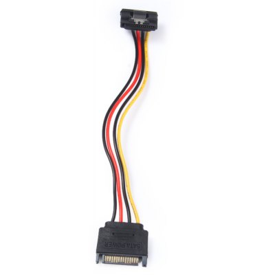 SATA Power Cable 15 Pins Male to 15 Pins Female 90 Degre