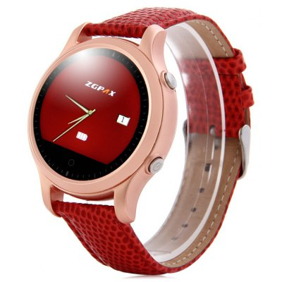 ZGPAX S360 SOS Dialing MTK2502 Genuine Leather Band Smart Bluetooth 4.0 / 3.0 Watch