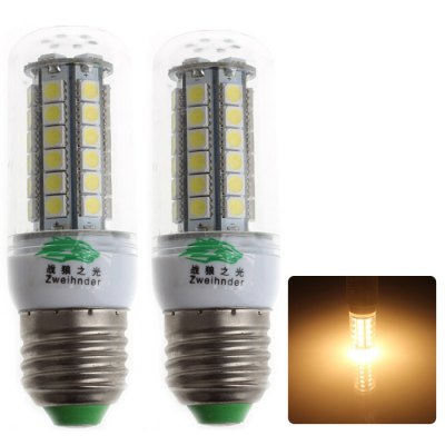 Zweihnder E27 5W 450Lm 48 x SMD 5050 LED Corn Bulb Warm White Light ( 2Pcs 3000 - 3500K )