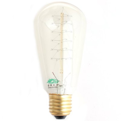 2Pcs Zweihnder E27 40W 500Lm Edison Christmas Tree Filament Bulb Warm White Tungsten Light ( 2700 - 3000K )