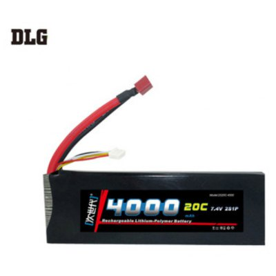 DLG 2S 20C 4000mAh 7.4V 40C Instantaneous Rate Battery for Remote Control Car Aircraft etc. Supplies