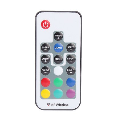 RF Remote Control 3-channel 4-pin RGB LED Light Strip Dimmer with Wireless Controller ( DC 5 - 24V )LED Accessories<br>RF Remote Control 3-channel 4-pin RGB LED Light Strip Dimmer with Wireless Controller ( DC 5 - 24V )<br><br>Accessory type: Remote Switch<br>Input Voltage: DC 5 - 24V<br>Output Power: 5V: 60W, 12V: 144W, 24V: 288W<br>Current: 12A<br>Features: Remote Control<br>Material: ABS<br>Product weight: 0.030 kg<br>Package weight: 0.100 kg<br>Product size (L x W x H): 8.5 x 4 x 0.7 cm / 3.34 x 1.57 x 0.28 inches<br>Package size (L x W x H): 12.5 x 8.5 x 2 cm / 4.91 x 3.34 x 0.79 inches<br>Package Contents: 1 x LED Dimmer, 1 x Remote Controller, 1 x English Manual