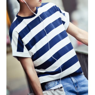 Loose Fit Stylish Round Neck Stripe Mens Short Sleeve Cotton Blend T-ShirtMens Short Sleeve Tees<br>Loose Fit Stylish Round Neck Stripe Mens Short Sleeve Cotton Blend T-Shirt<br><br>Material: Cotton Blends<br>Sleeve Length: Short<br>Collar: Round Neck<br>Style: Fashion<br>Weight: 0.55KG<br>Package Contents: 1 x T-Shirt<br>Pattern Type: Striped