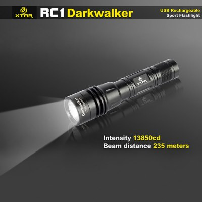Xtar RC1 Darkwalker Cree XP - G2 S2 450Lm Waterproof 18650 / 18700 USB LED Flashlight Torch