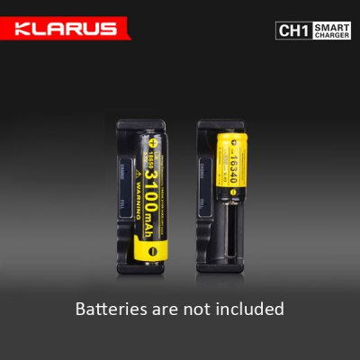 Klarus CH1 Smart Li-ion Battery Charger with Power Bank Function for 18650 / 26650 / 16340 / 14500 / C / AAA Battery