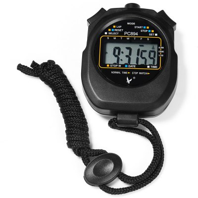 PC894 Portable Handheld LCD Digital Chronograph Timer Sports Stopwatch