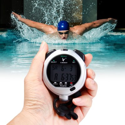 PC2210 Digital Chronograph Sports Stopwatch Countdown Timer